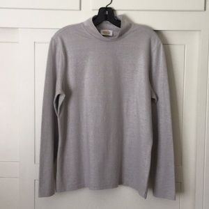 Talbots Light Silver Mock Neck (great condition)